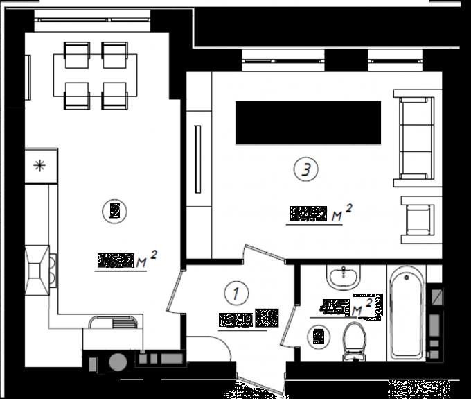 ЖК «Белый Шоколад. Center» в Белогородке 1-комнатная квартира большая