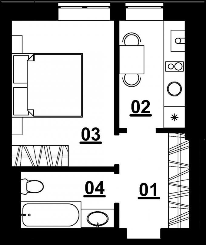 ЖК «Белый Шоколад. Center» в Белогородке 1-комнатная квартира маленькая
