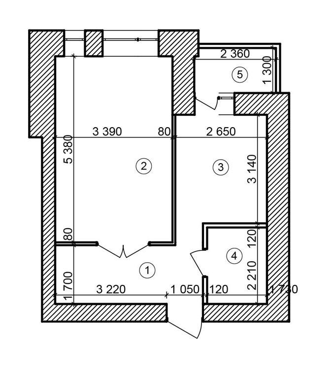 ЖК «Форест Ленд» в Буче планировка однокомнатной квартиры