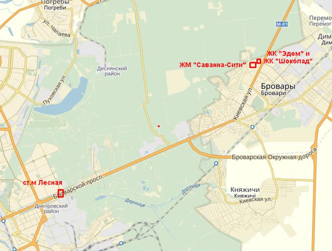 ЖК «Саванна Сити» на карте