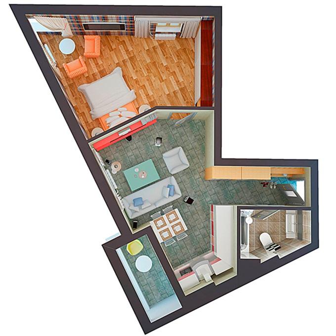 ЖК Скайлэнд-2 однокомнатная квартира