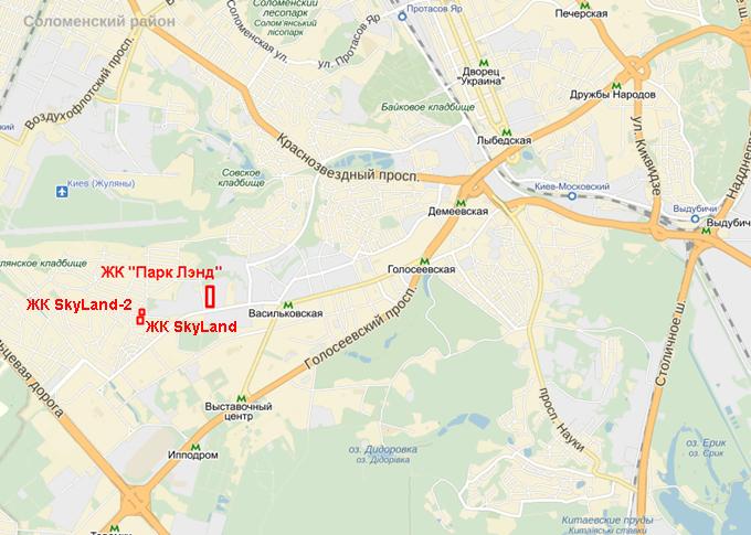 ЖК Скайлэнд-2 карта