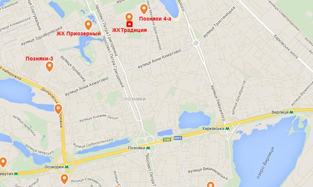 ЖК «Традиция» от Интергалбуд карта