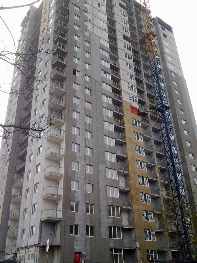 ЖК на Теремковской, 3 от Спецжитлофонда дом 1 ход строительства