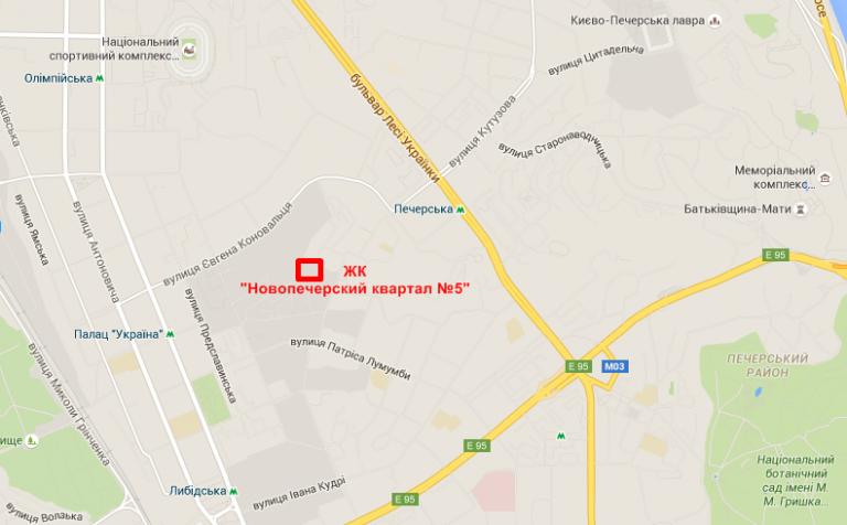 ЖК Новопечерский квартал №5 на карте