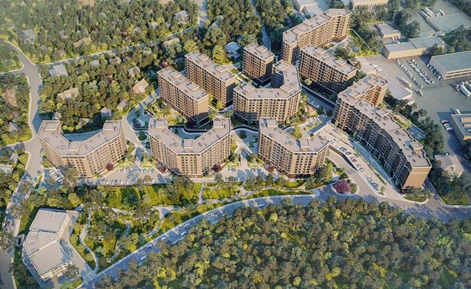 ЖК Эхо Парк в Петропавловской Борщаговке визуализация