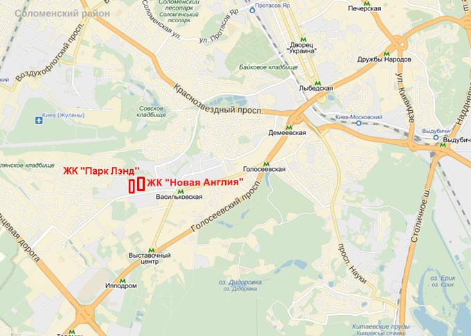 ЖК «Новая Англия» от Royal House на карте