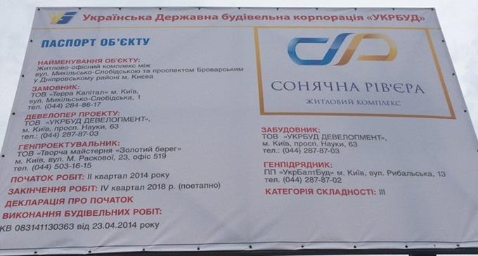 ЖК «Солнечная Ривьера» от Укрбуд пасспорт