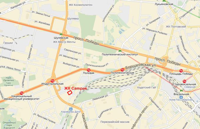 ЖК Кемпус от Стандарт Девелопмент на карте