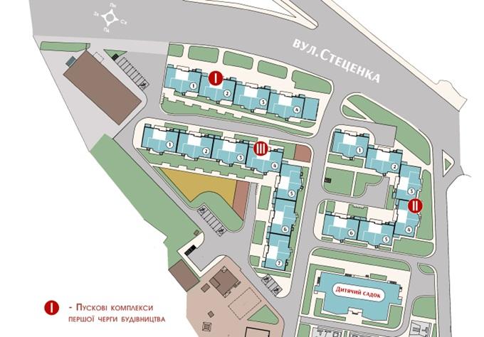 Арт-квартал «Спивоче» от СГ «Фундамент» генеральный план