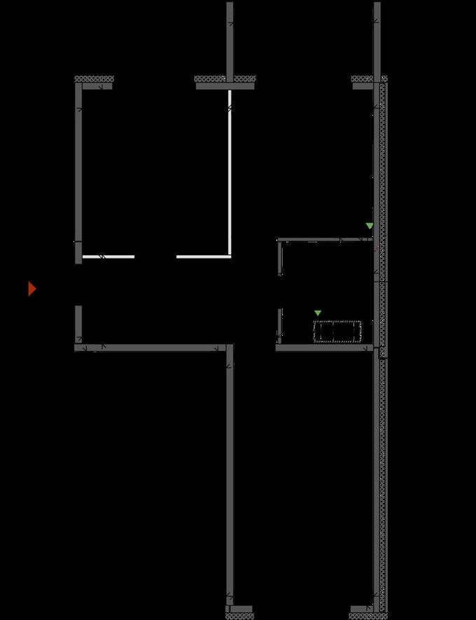 Арт-квартал «Спивоче» от СГ «Фундамент» пранировка двухкомнатной квартиры