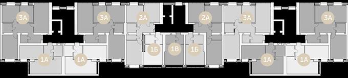 ЖК «Синергия-3» поэтажный план 4 дом