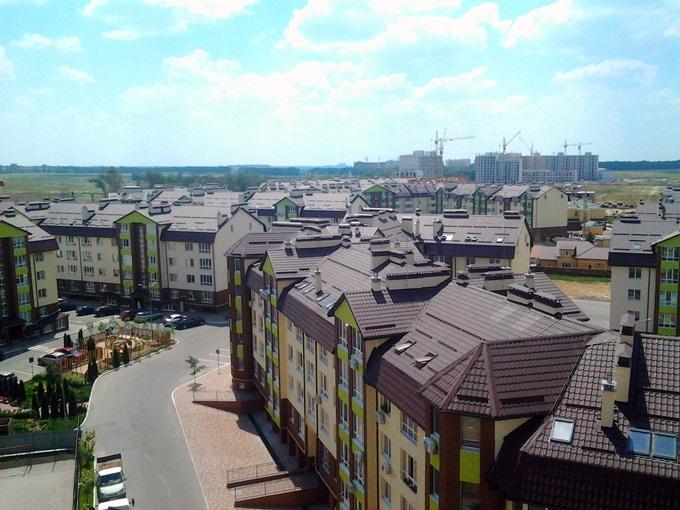 ЖК Софиевская Сфера в Софиевской Борщаговке вид по улице Ленина