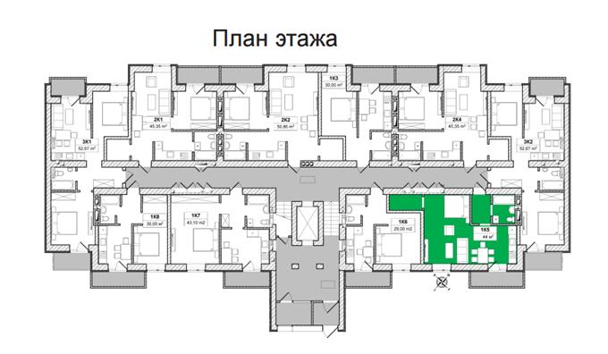 ЖК «Вышгород Сити Парк» поэтажный план