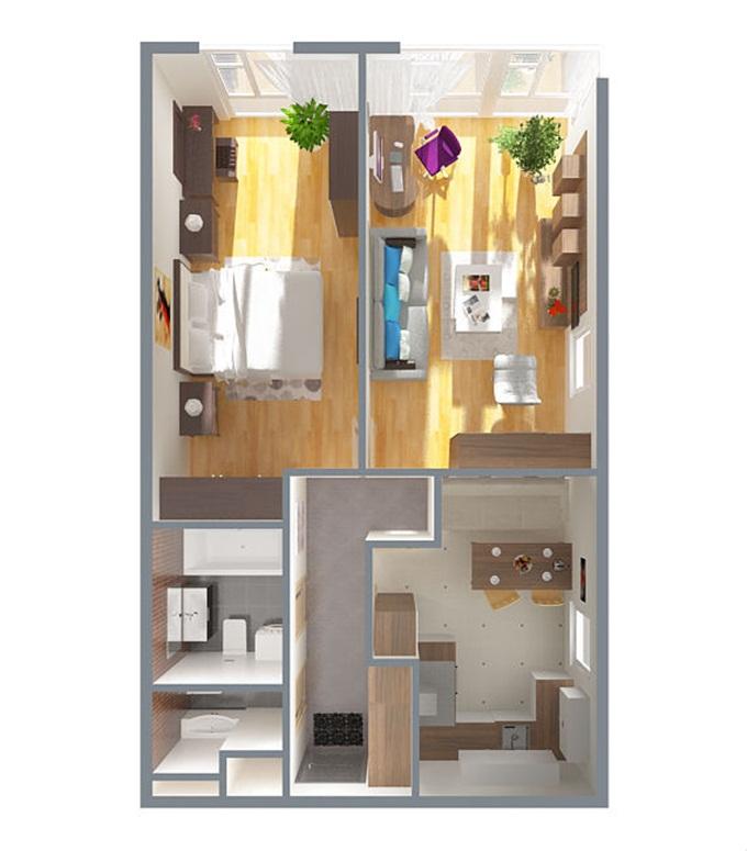 ЖК iHome в Крюковщине планировка двухкомнатной квартиры