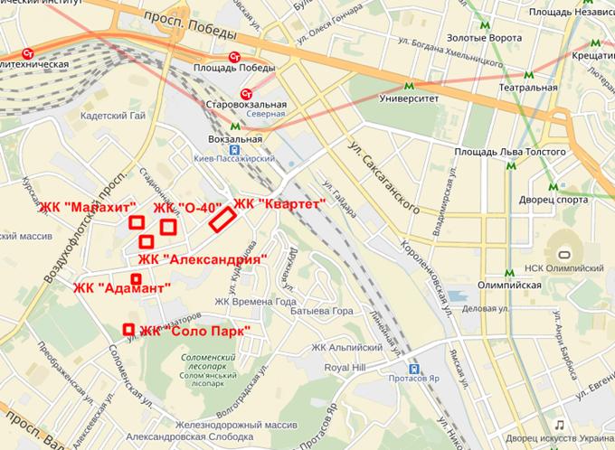 ЖК Адамант на карте