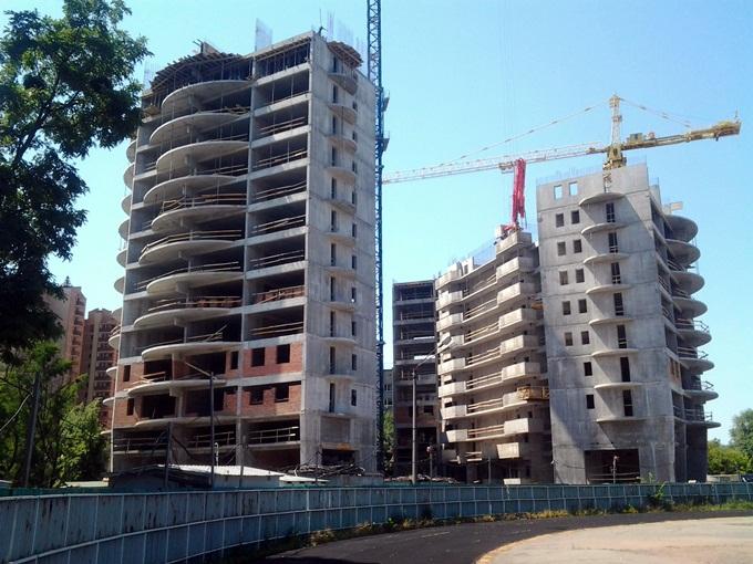 ЖК «Альтер Эго» от ГЕОС ход строительства вид со стадиона