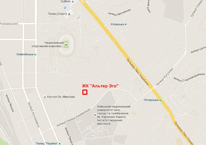 ЖК «Альтер Эго» от ГЕОС на карте