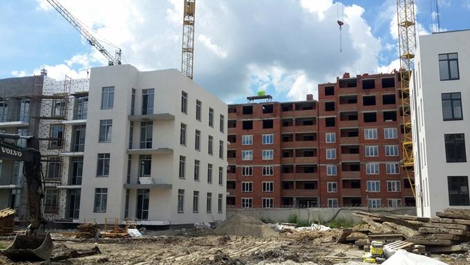 ЖК «Европейка» в Софиевской Борщаговке дома строят близко