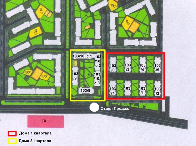 ЖК «Европейка» в Софиевской Борщаговке генплан первого и второго кварталов