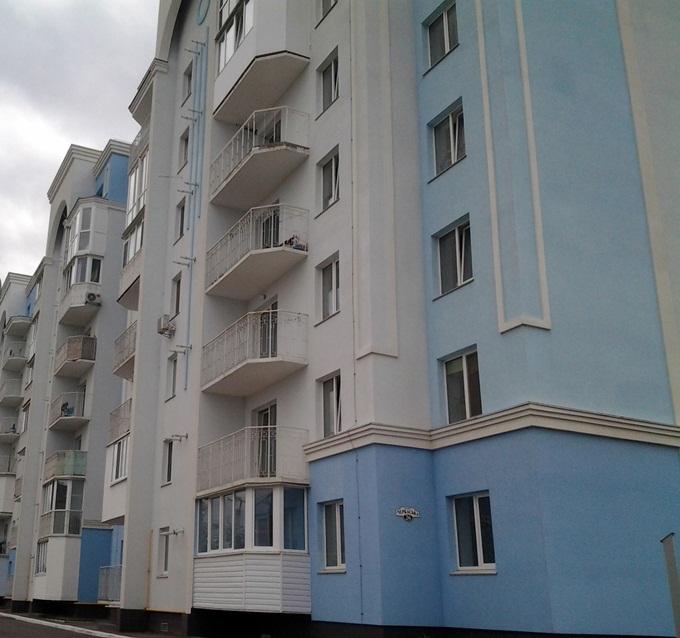 ЖК «Петропавловский Посад» в Петропавловской Борщаговке фасад