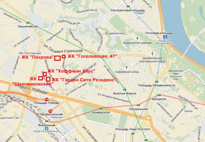 ЖК «Покрова» от Укрбуд на карте