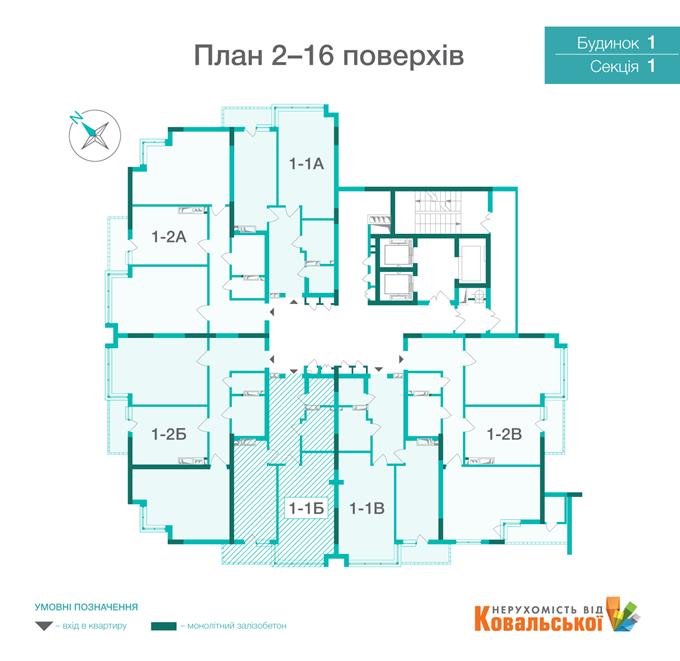 ЖК «Династия» от Ковальской поэтажный план
