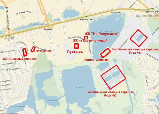 ЖК «На Ревуцкого» от Фундамента на карте инфраструктура