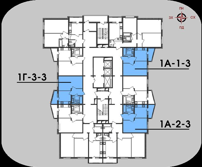 ЖК «На Ревуцкого» от Фундамента поэтажный план второго дома
