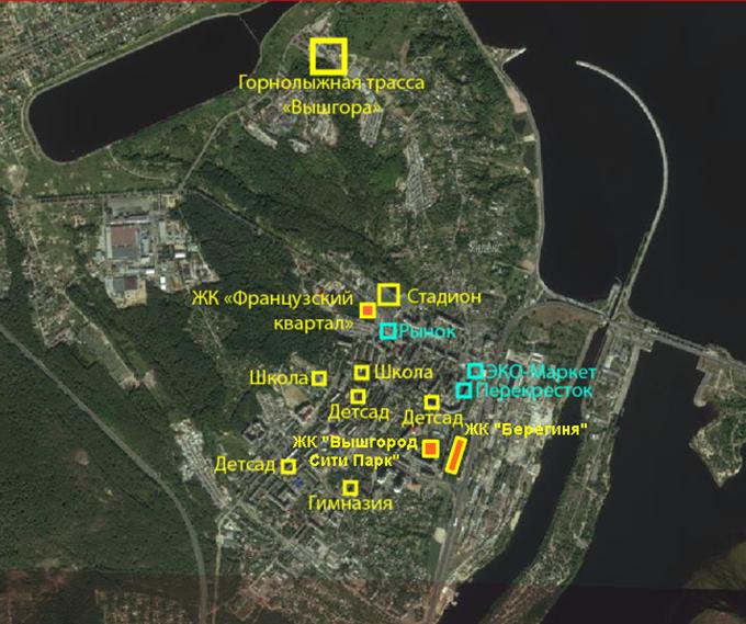 ЖК «Вышгород Сити Парк» инфраструктура