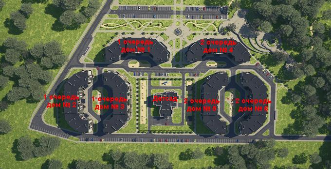 ЖК «На Прорезной» в Гостомеле генеральный план