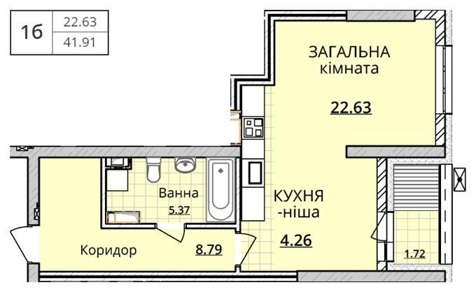 ЖК Оболонь Скай планировка квартиры студио