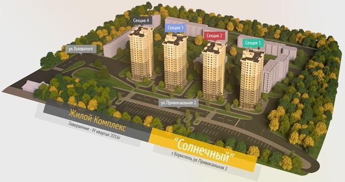 ЖК «Солнечный» в Борисполе генеральный план комплекса