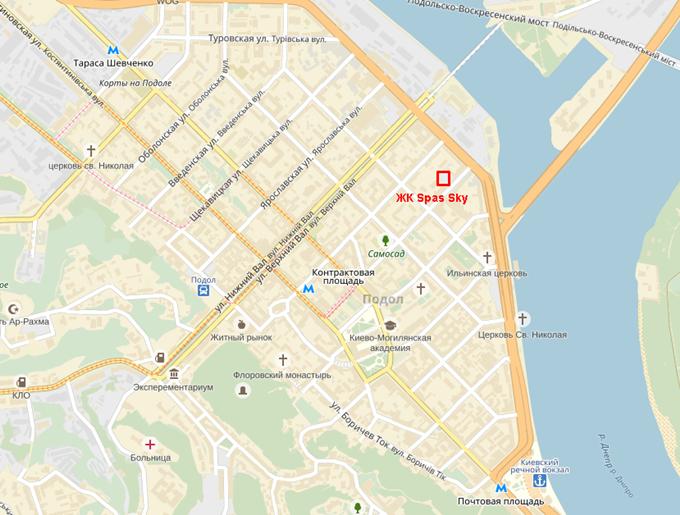 ЖК Спас Скай от Укрбуд на карте