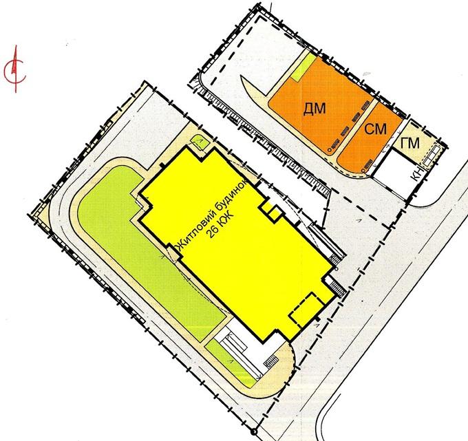 ЖК на Горловской, 215 (а, б, в) от КГС генеральный план комплекса