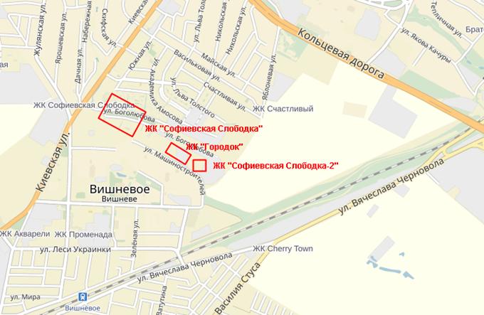 ЖК «Городок» от застройщика «Эркер» на карте