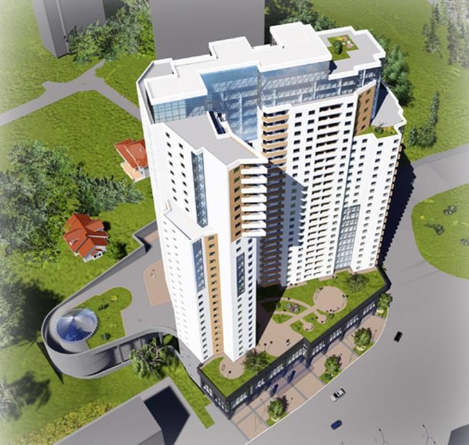 ЖК Панорама от «bUd development» вид сверху