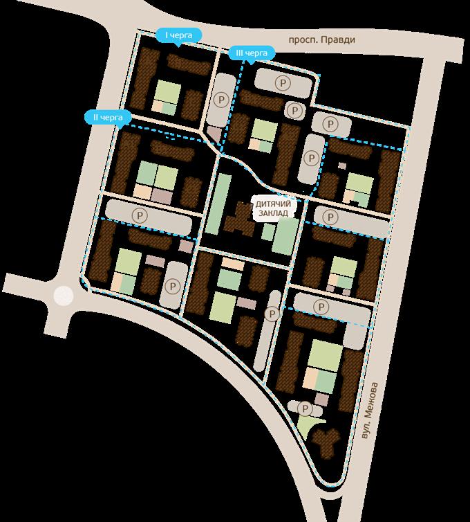 ЖК «Варшавский микрорайон» от Столица Групп генеральный план