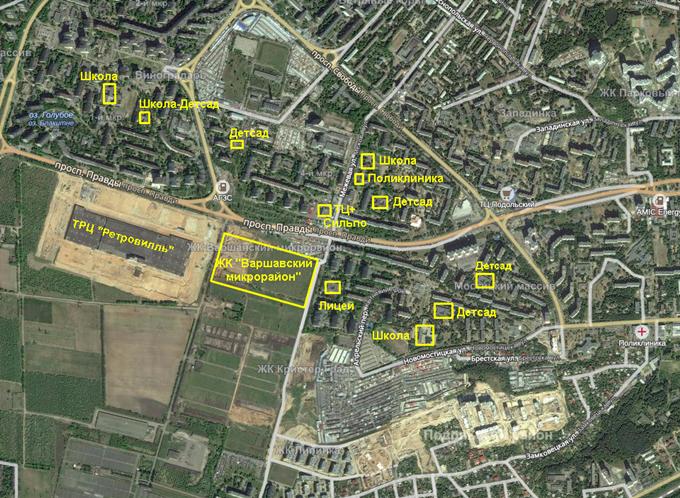 ЖК «Варшавский микрорайон» от Столица Групп инфраструктура