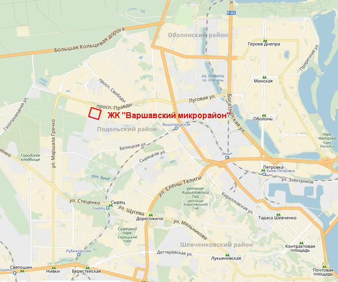 ЖК «Варшавский микрорайон» от Столица Групп на карте