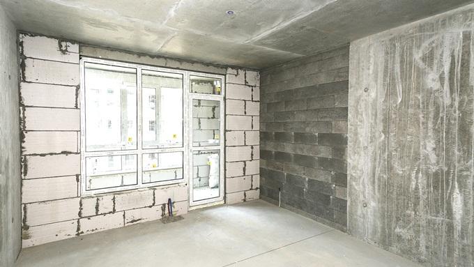 ЖК «Варшавский микрорайон» от Столица Групп внутри квартиры без отделки