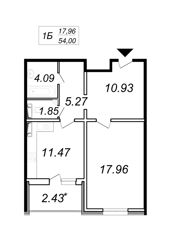 Год спустя: ЖК «Кристер Град» планировка однокомнатной квартиры