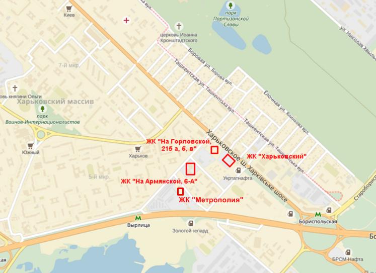 ЖК «Метрополия» на карте