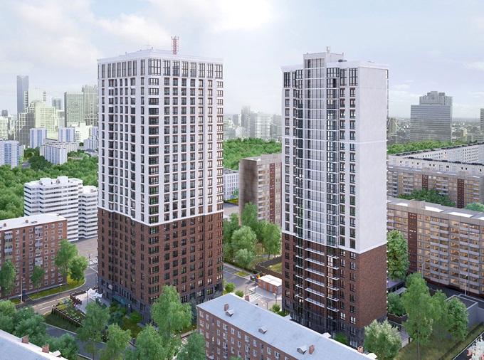 ЖК «Метрополия» визуализация дома на Соломенской 20а
