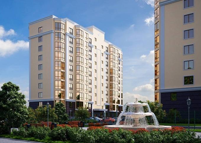 ЖК «Одесский Квартал» в Крюковщине фонтан