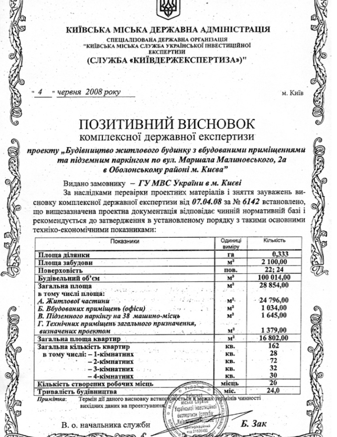 ЖК Лейк Хаус от УкрБуд экспертный отчет