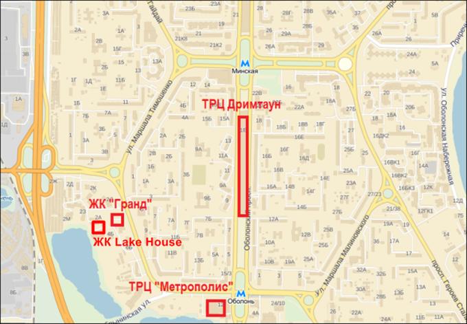 ЖК Лейк Хаус от УкрБуд на карте