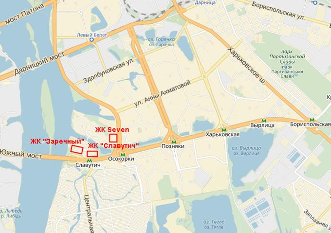 ЖК Seven на карте