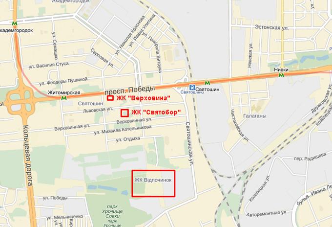 Год спустя: ЖК «Святобор» на карте