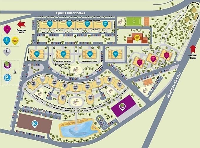 ЖК Orange City от GEOS генеральный план